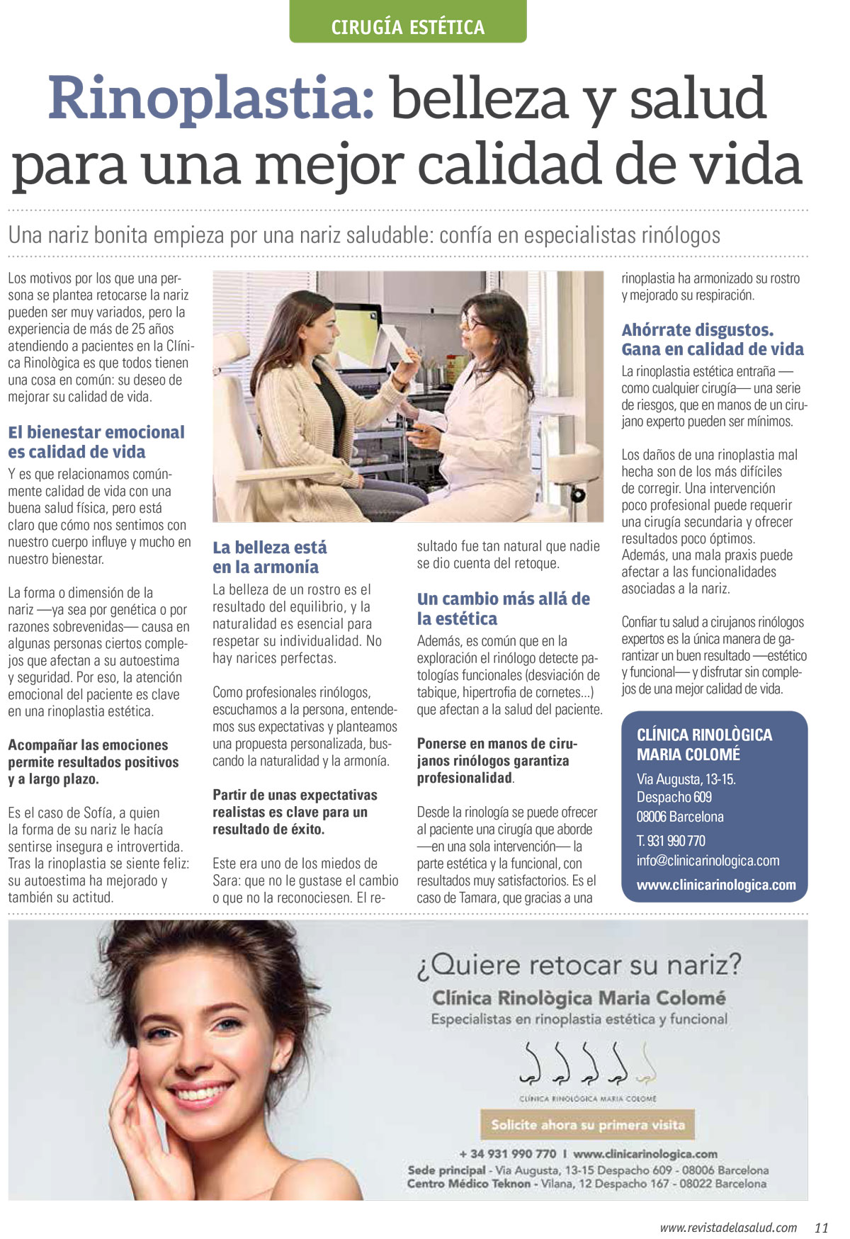 Clínica Rinològica Maria Colomé - Notícies 8