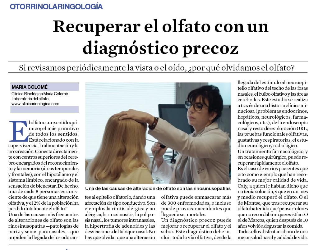 Clínica Rinològica Maria Colomé - Notícies 9