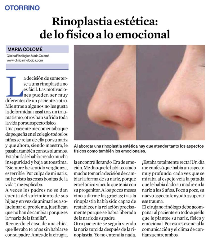 Clínica Rinològica Maria Colomé - Notícies 3