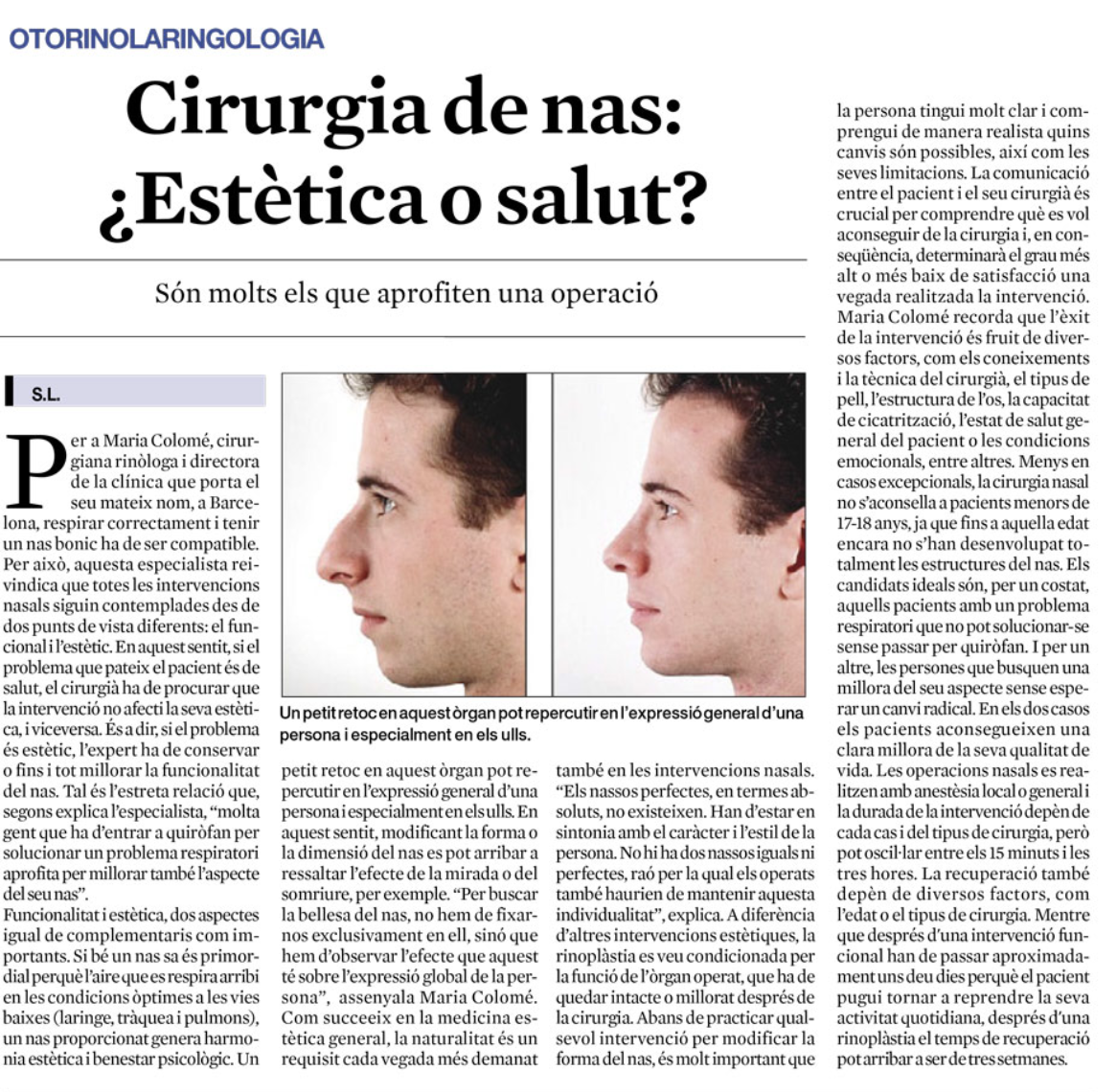 Clínica Rinològica Maria Colomé - Notícies